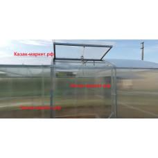 Теплица с двойной дугой прямостенная Фермер 4 х 4 м. Профи