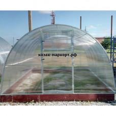 Усиленная теплица Фермер 3.40 х 14 м  оц. труба 25*25мм шаг дуг 0.65м