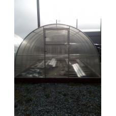 Усиленная теплица Фермер 3.40 х 18 м  оц. труба 25*25мм шаг дуг 0.65м