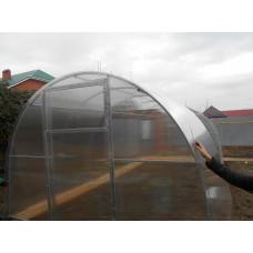 Усиленная теплица Фермер 3.40 х 8 м  оц. труба 25*25мм шаг дуг 0.65м